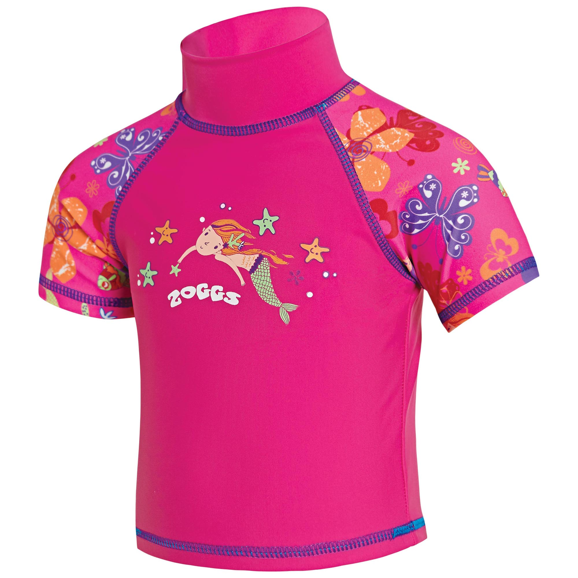 Zoggs Mermaid Flower Sun Protection Top - 6 - 12 Months