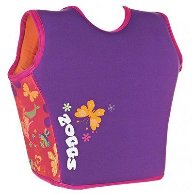 Zoggs Mermaid Flower Swim Jacket-back