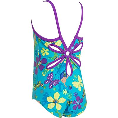 Zoggs Mermaid Flower Yaroomba Floral Infant Girls Swimsuit - Back