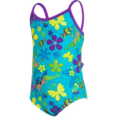 Zoggs Mermaid Flower Yaroomba Floral Infant Girls Swimsuit