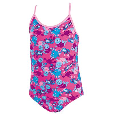 Zoggs Miss Zoggy Flyback Infant Girls Swimsuit - Front View