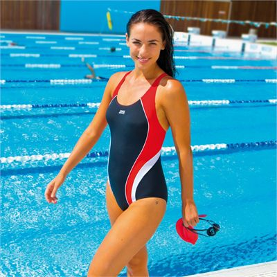 Zoggs Noosa Flyback Ladies Swimsuit - In Use