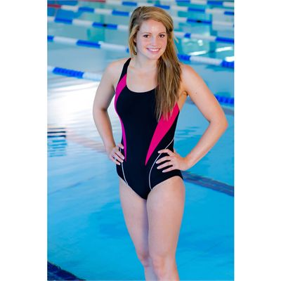 Zoggs Noosa Flyback Ladies Swimsuit in use