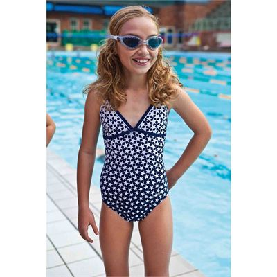 Zoggs Ocean Reef X-back Girls Swimsuit in use