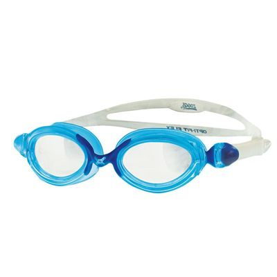 Zoggs Opti Fit Flex  Swimming Goggles Clear Lens Blue Navy Frame