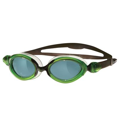 Zoggs Opti Fit Flex  Swimming Goggles Smoke Lens Green Black Frame