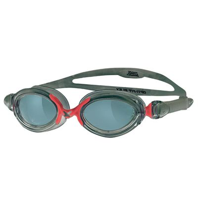 Zoggs Opti Fit Flex  Swimming Goggles Smoke Lens  Smoke Red Frame