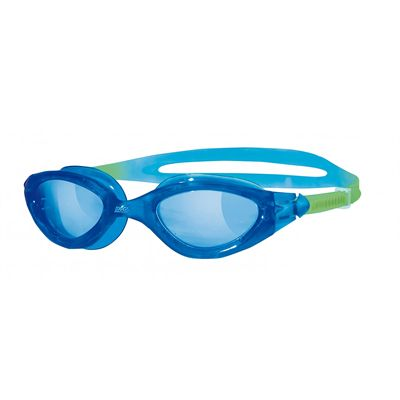 Zoggs Panorama Junior Swimming Goggles-Blue lenses with blue frame