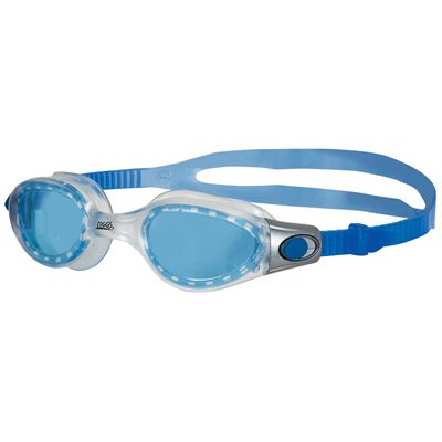 Zoggs Phantom Elite Junior Goggles-blue lens and clear frame