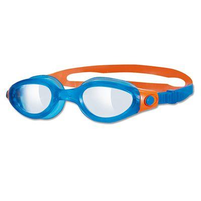 Zoggs Phantom Elite Junior Goggles -  clear lens with blue frame
