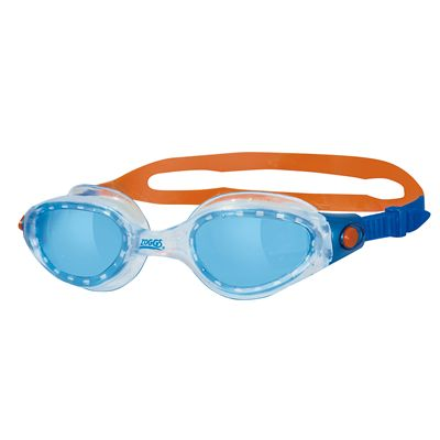 Zoggs Phantom Elite Swimming Goggles-Blue and Clear