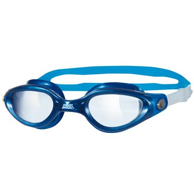 Zoggs Phantom Elite Swimming Goggles-Clear Lense and blue frame