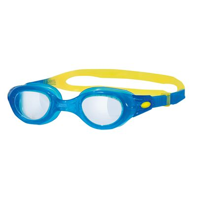 Zoggs Phantom Junior Goggles - Blue Frame with Clear Lenses