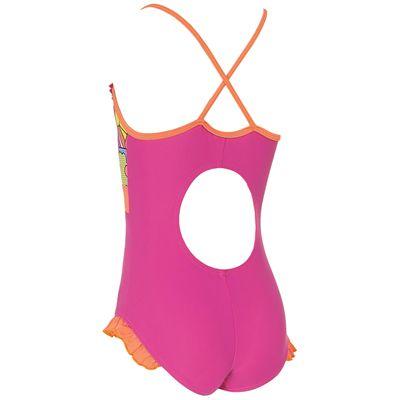 Zoggs Playtime Frill V Neck Infant Girls Swimsuit - Back