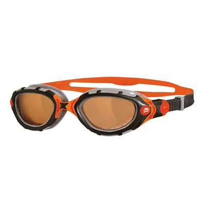 Zoggs Predator Flex Polarized Ultra Swimming Goggles - black-orange model
