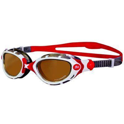 Zoggs Predator Flex Polarized Ultra Swimming Goggles - red and white