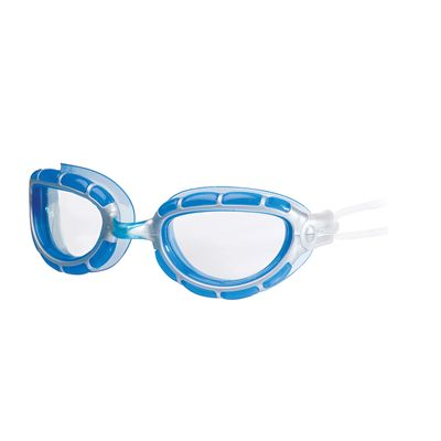 Zoggs Predator Goggles - frame silver and blue with clear lens