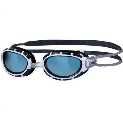 Zoggs Predator Junior Swimming Goggles-Smoke Lenses and Black Frame