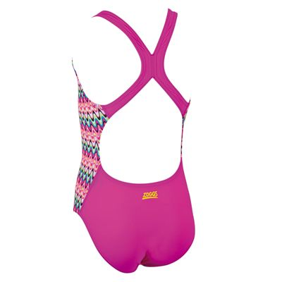 Zoggs Retro Wave Flyback Girls Swimsuit - Back