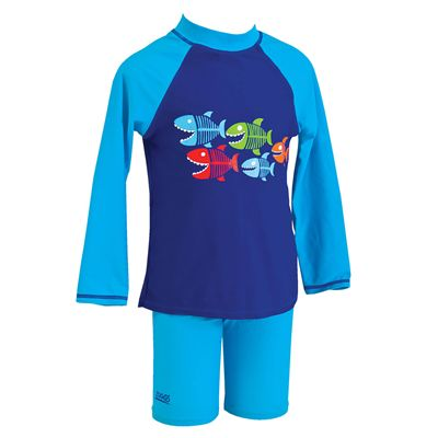 Zoggs Sharks Bay Sun Protection Two Piece