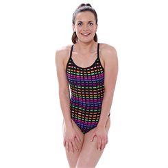 Zoggs Signature Check Sprintback Ladies Swimsuit