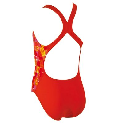 Zoggs Sunset Splash Flyback Girls Swimsuit-Back