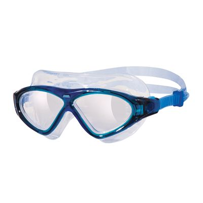Zoggs Tri Vision Swimming Mask-Clear lenses with blue frame
