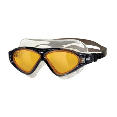 Zoggs Tri Vision Swimming Mask-Gold lenses with black frame