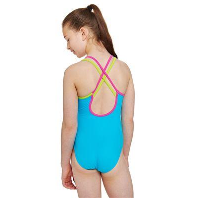 Zoggs Tribal Art Crossback Girls Swimsuit - Back