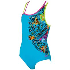 Zoggs Tribal Art Crossback Girls Swimsuit