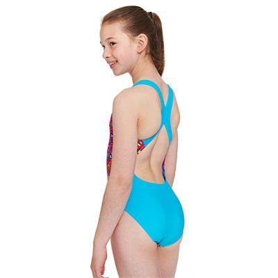 Zoggs Tribal Art Flyback Girls Swimsuit - Back