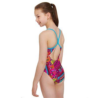 Zoggs Tribal Art Sprintback Girls Swimsuit - Back