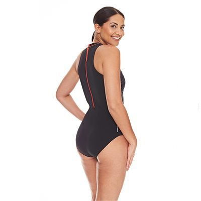 Zoggs Tuncurry Hi Neck Ladies Swimsuit AW16 - Back