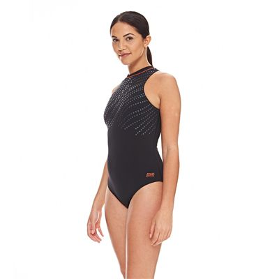 Zoggs Tuncurry Hi Neck Ladies Swimsuit AW16 - Side