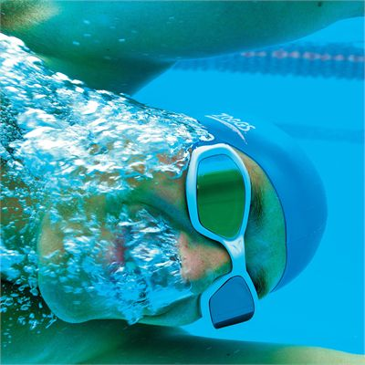 Zoggs Ultima Air Gold Swimming Goggles In Use Under Water