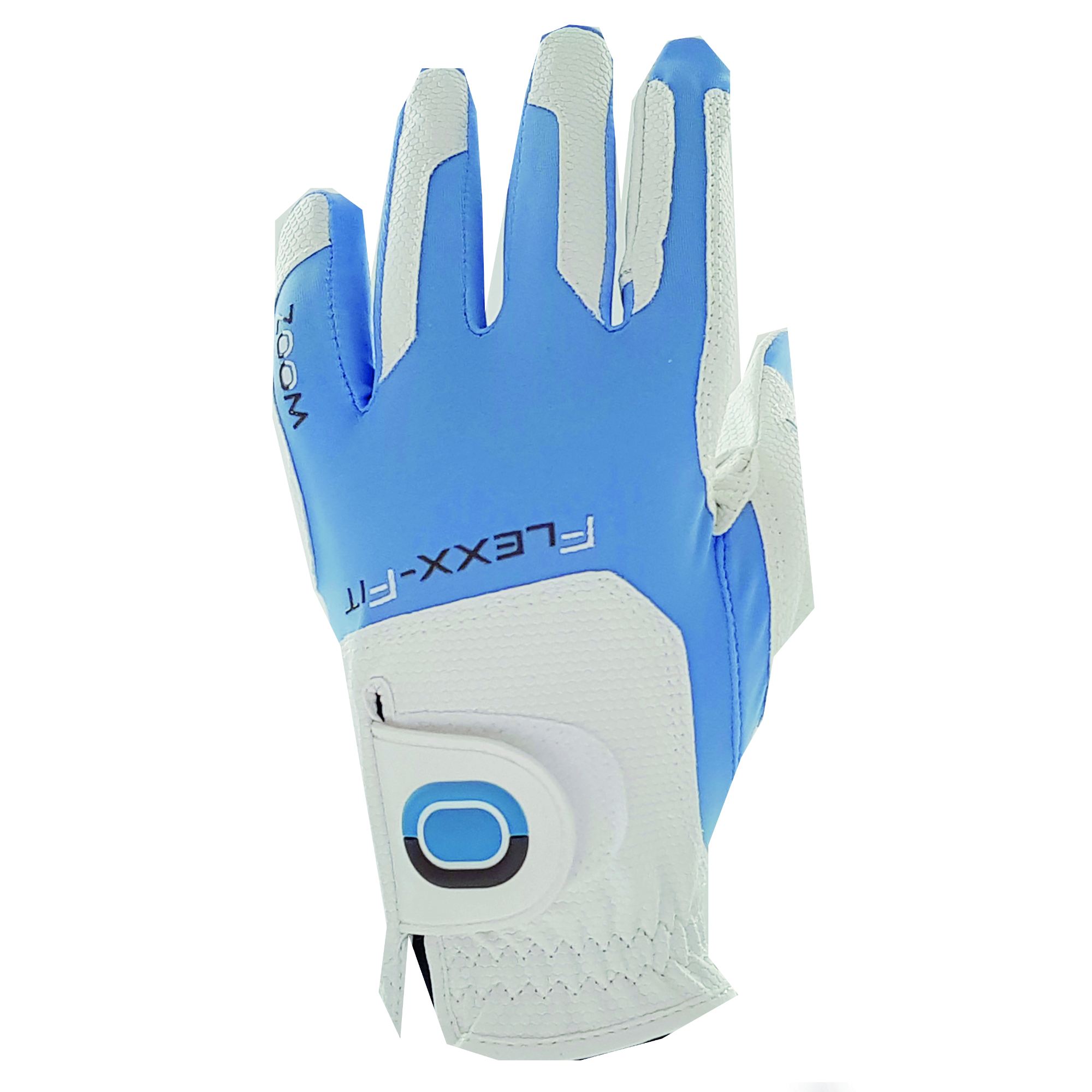 Image of Zoom Weather Ladies Golf Glove - White/Blue