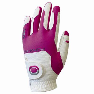 Zoom Weather Ladies Golf Glove - WhitePink